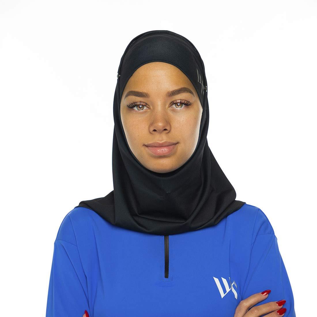 SnapJab Sports Hijab (Black)