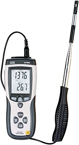 CEM CMM CFM DT-8880 Hot Wire Anemometer Air Flow Velocity Meter with USB Interface