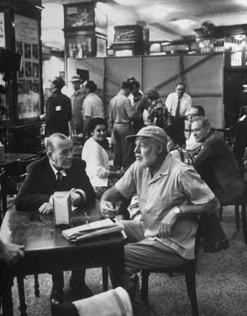 (Photo Noel Coward Ernest Hemingway at Sloppy Joe's Bar)