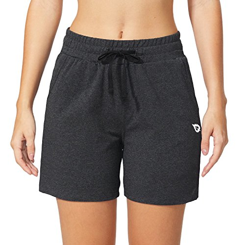 Baleaf Women's Activewear Yoga Lounge Shorts with Pockets Charcoal Size M by Baleaf (Image #3)