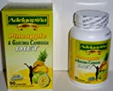 PINEAPPLE AND GARCINIA CAMBOGIA 90 CAPSULES 500mg. ADELGAPINA SLIMMING CAPSULES
