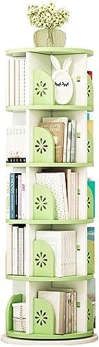 Bookcases 3/4/5 Tier Green Wood Bookshelf