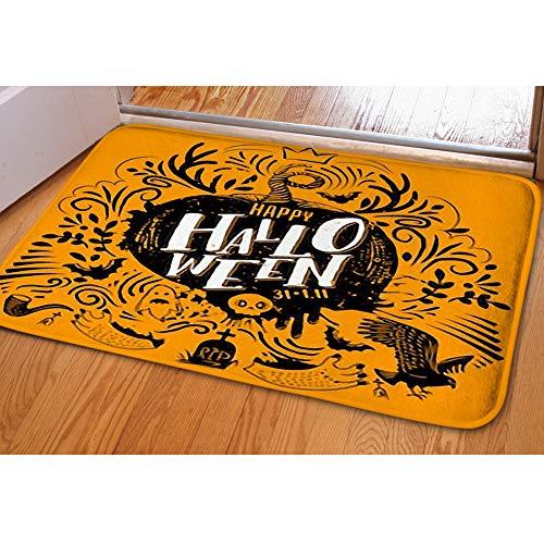 iBathRugs Door Mat Indoor Area Rugs Living Room Carpets Home Decor Rug Bedroom Floor Mats,Happy Halloween Lettering Logo Greeting -