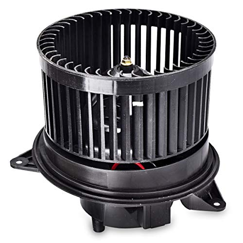 FAERSI HVAC Plastic Heater Blower Motor with ABS Fan Cage Replacement Front Blower Assembly for 2000-2007 Ford Focus/2010-2013 Ford Transit Connect/2002-2008 Jaguar X-Type