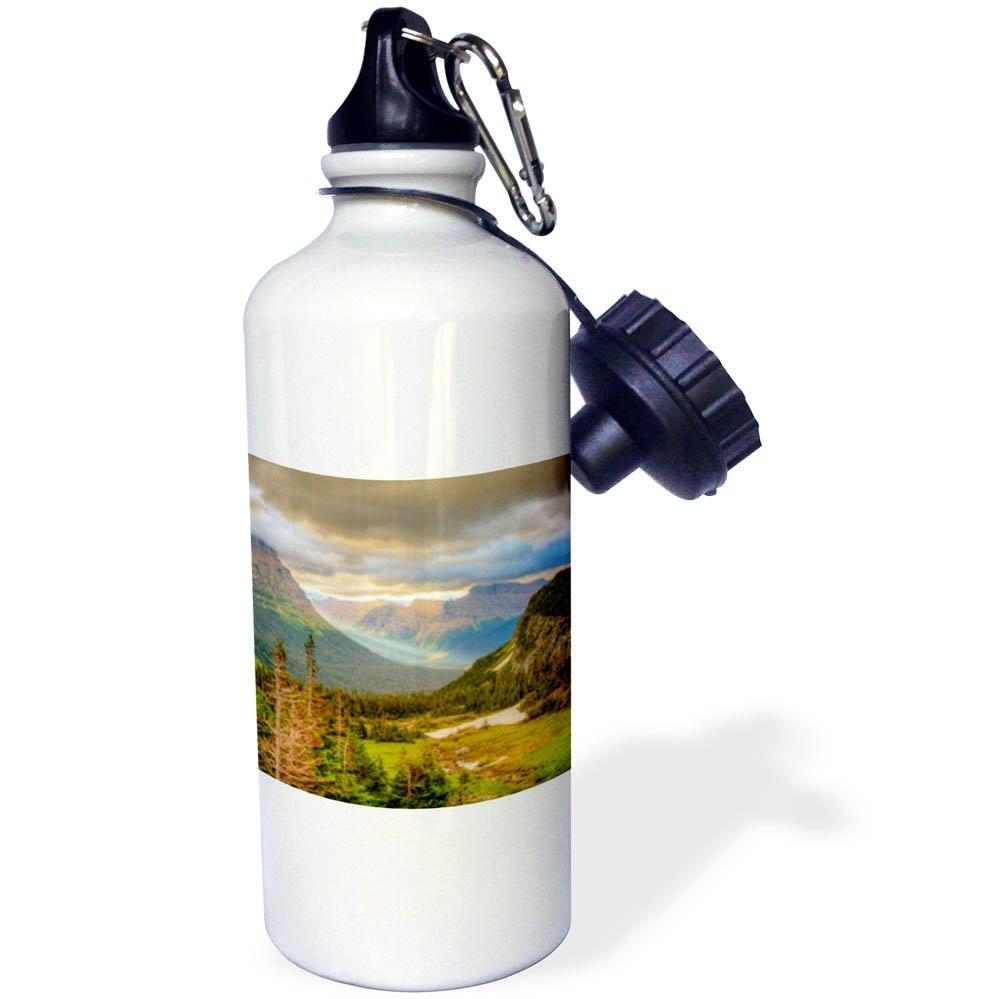 wb/_259568/_1 - 21 oz Sports Water Bottle Logan Pass 3dRose Danita Delimont Glacier National Park Montana Mountain Sunrise Over Mountains