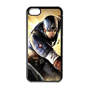 C-EUR Print Captain America Pattern Hard Case for iPhone 5C