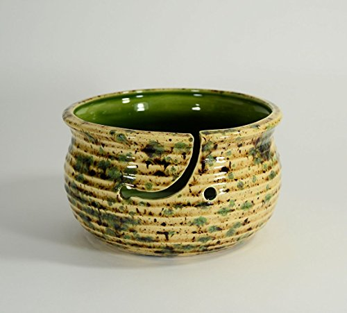 Large Pottery Yarn Bowl Cappuccino Mint