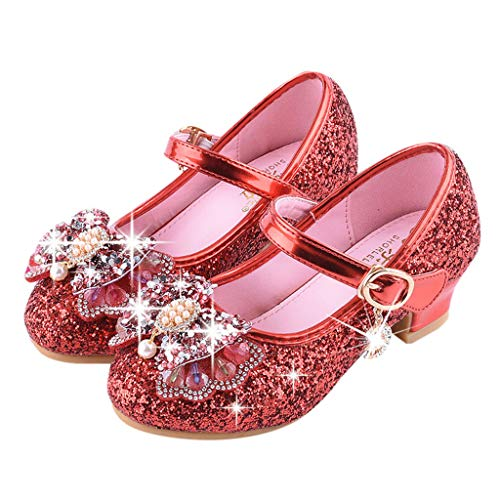 57bd05253 Zapatos Fiesta Sandalias Bebé De Arco 14 3 Rojo Baile Tango Niñas Princesa  Niños Latino Mitlfuny Lentejuelas Para Rhinestone Verano Primavera Vestir  ...