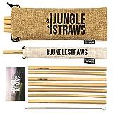Jungle Straws | Reusable Bamboo Drinking Straws | 100% Natural & Eco Friendly | Biodegradable &...