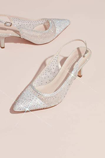 a5e55f9abba David s Bridal Crystalized Illusion Slingback Heeled Mules Style HURLEY20