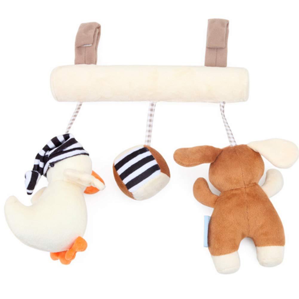 Pl/üsch Krippe Spielzeug Kinderwagen h/ängende Puppe Spielzeug mit Bulit-in Music Box