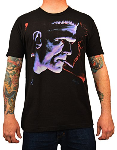Men's Franky by Mike Bell Classic Frankenstein Monster Halloween Black -