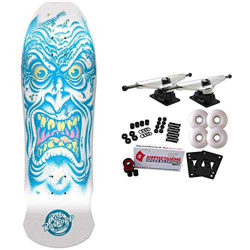 Santa Cruz Skateboard Complete Roskopp Face White Dip 9.5