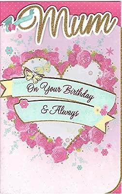 VIBRANCE Madre Handcrafted - Tarjeta de cumpleaños rosa ...