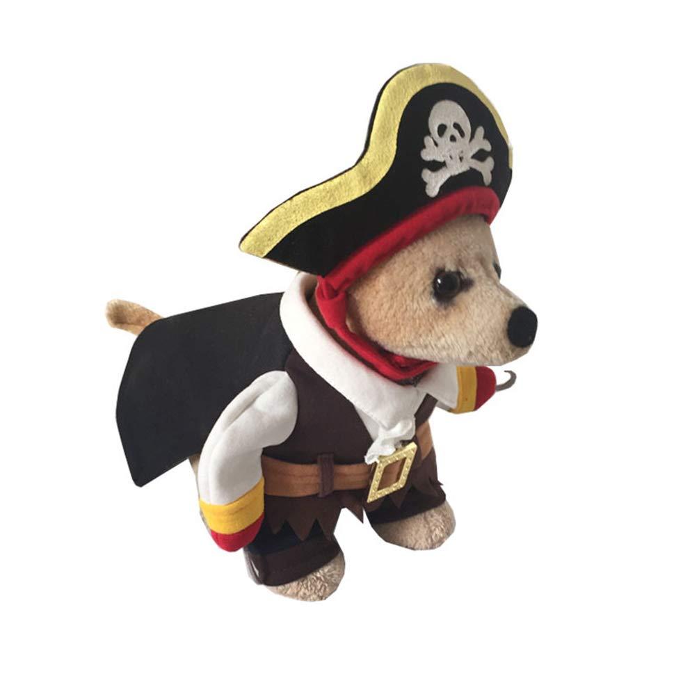 Jitong Disfraces Pirata Ropa Cosplay para Perro, Trajes Gato para ...