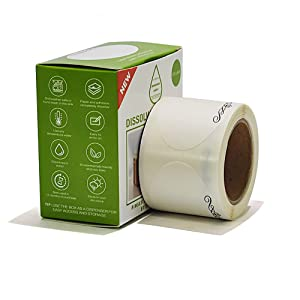 """White Dissolvable label, Dissolvable Canning Label, 1 1/2"""" x 2 1/2"""" (Roll of 120)"""