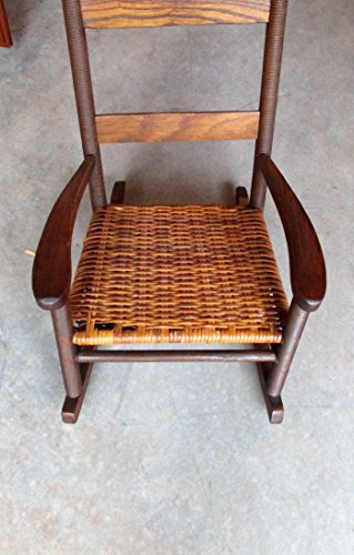 Antique Child's Rocker with Beehive Posts and Cane Bottom