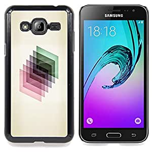 Stuss Case / Funda Carcasa protectora - 3D dimensional Polígono de cristal reflectante - Samsung Galaxy J3 GSM-J300