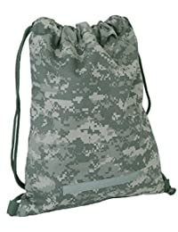 Code Alpha 9913ACU Camouflage Drawstring Backpack, Digital Camouflage
