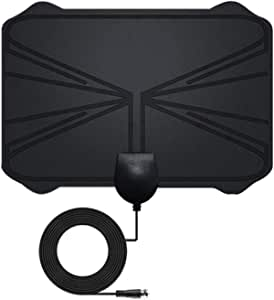 Diamoen 4K Digital HDTV Antena Interior Antena amplificada 1.180 Millas de Alcance HD1080P DVB-T2 TDT TV con Amplificador