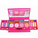 LIGE Kid makeup set- Princess Girl's All-In-One Deluxe Makeup Palette With Mirror Kids Pretend Make Up - Non Toxic and Washable