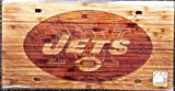York Jets Wood Style License Plate