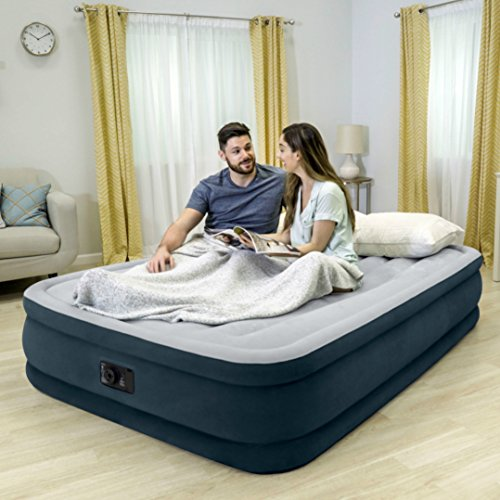 Intex Dura-Beam Series Elevated Comfort Airbed with Built-In Electric Pump, Bed Height 16″, Queen – Amazon Exclusive