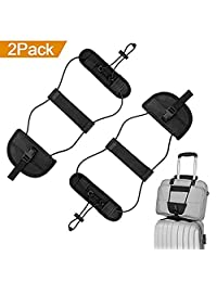 2PC Luggage Straps for Suitcases,GB4 Adjustable Bag Bungee