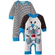Gerber Baby-Boys Newborn Robot 2 Pack Coverall, Robot, 6-9 Months