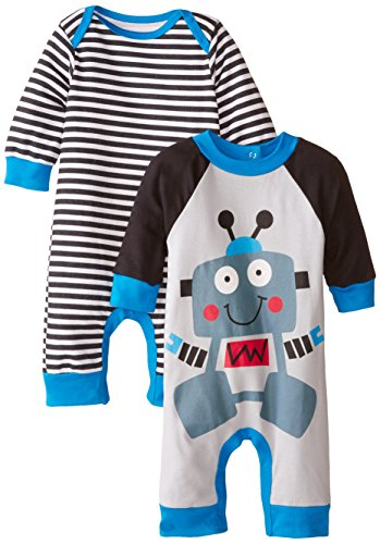 Gerber Baby-Boys Newborn Robot 2 Pack Coverall, Robot, 6-9 (Infant Coverall)