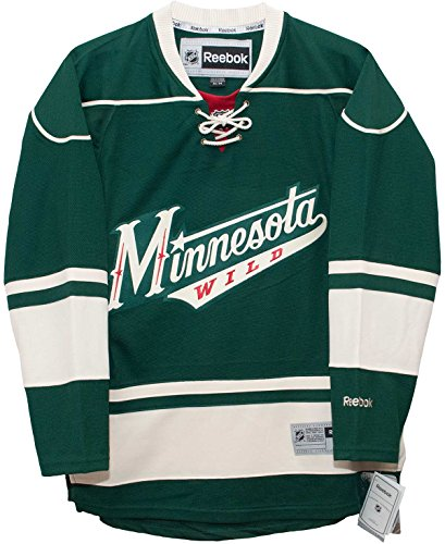 Minnesota Wild Alternate Green Reebok Premier Hockey Jersey (Small)