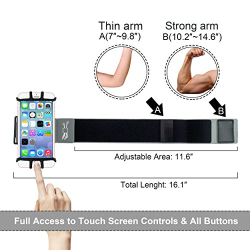 Running Armband for iPhone X/iPhone 8 Plus/ 8/7 Plus/ 6 Plus/ 6, Galaxy S8/ S8 Plus/ S7 Edge, Note 8 5, Google Pixel with Key Holder Phone Armband for Hiking Biking Walking Running(Black) by CICO (Image #5)