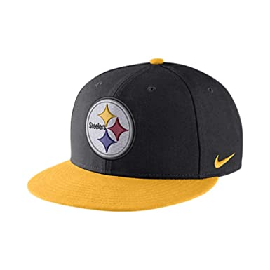 2b675867cac Image Unavailable. Image not available for. Color  Nike Pittsburgh Steelers  Everyday True Black Gold Snapback Hat ...