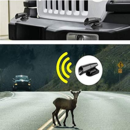 Deer Whistles for Car /& Motorcycles Save a Deer Warning Devices 4 PCS Black Abnaok Hyper Whistle Deer Whistle