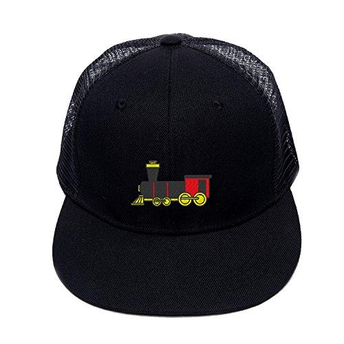 Embroidery Street Dancing caps Cartoon Train Summer Mesh hats baseball snapback Train Trucker Hat