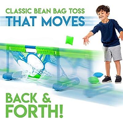 Franklin Sports Kids Bean Bag Toss - Runaway Moving Sport Game - 29 X 12 X 14.5: Toys & Games