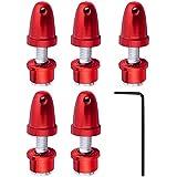 (5-Pack) HobbyPark RC Airplane Aluminum Bullet Spinner Propeller Adapter Saver For 3mm Shaft Brushless Motor Red