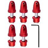 5pcs HobbyPark RC Plane Airplane Quadcopter Bullet Propeller Adapter Saver Spinners For 4.0mm Shaft Brushless Motor (Red)