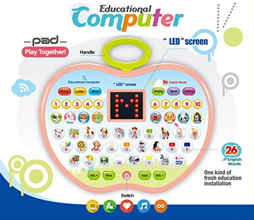 Learning Toys for 2 Year Old Girl, Educational Toys for 1-3 Year Olds Boys Girl Kid Computer Toys for 4 Year Olds Girl Toy Gift Age 1-4 Boy Children Toy for 12-24 Months Toddler Girl Tablet Toys by SUGOO (Image #4)