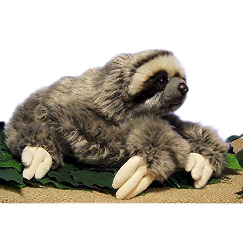 LuLezon Very Soft Three Toed Sloth Plush Stuffed Animal Toy 12.5 inch (Large Sloth Stuffed Animal)