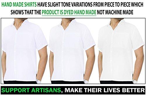 Mens dress short sleeve button shirts