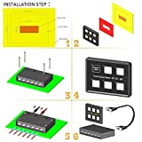 Cllena 12V/24V DC 6 Gang LED Switch Panel Slim