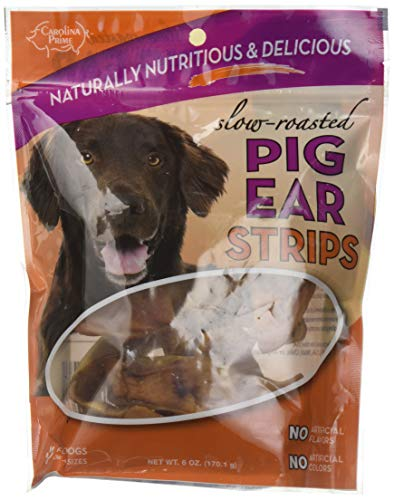 Carolina Prime Pet 12111 Pig Ear Strips Treat For Dogs ( 1 Pouch), One Size