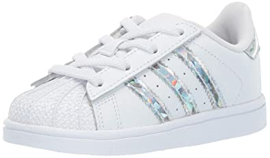 brand new 57a90 7327e adidas Originals Baby Superstar Running Shoe White, 4K M US Toddler