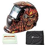 iMeshbean Pro Cool Skull Style Solar Auto-darkening Welding & Grinding Helmet + Extra Lens Covers & Storage Bag ANSI Certified Model#1041 USA