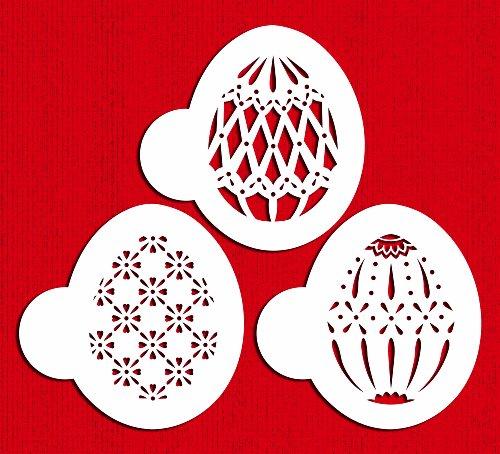 Designer Stencils C865 Faberge Easter Egg Stencils, Beige/Semi-Transparent