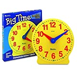 Toys : Learning Resources Big Time Learning Clock, 12 Hour, Basic Math Development, Ages 5+