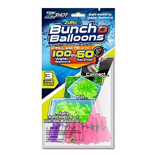 100 Fast Fill Magic ZURU Bunch o Water Balloon Self Tying Bomb Summer Party Toy Beach HTI