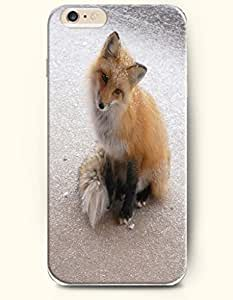 Apple iPhone 6 Case ( 4.7 inches) with Design of Cute Fox In Snow - Design Make You Laugh -OOFIT Authentic iPhone Skin
