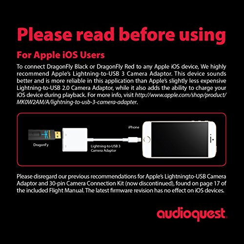 51r0jRxx2aL - Apple & AudioQuest Preferred Bundle: DragonFly Black v1.5 (USB Preamp, Headphone Amp & DAC) and Apple Lightning to USB 3 Camera Adapter (CCK 3.0)